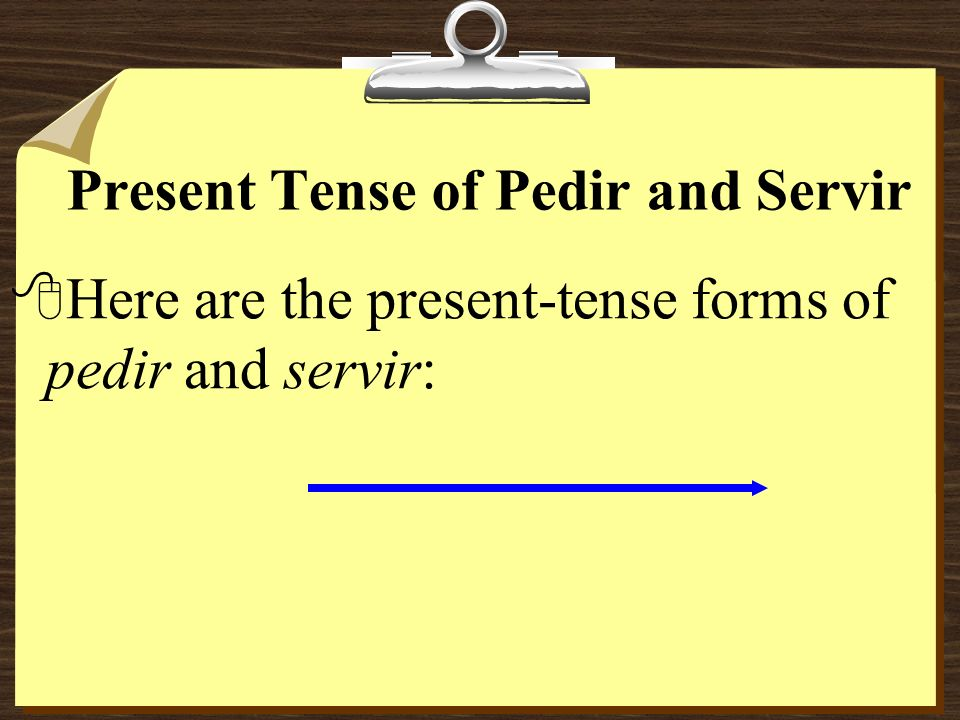 Present Tense of Pedir and Servir
