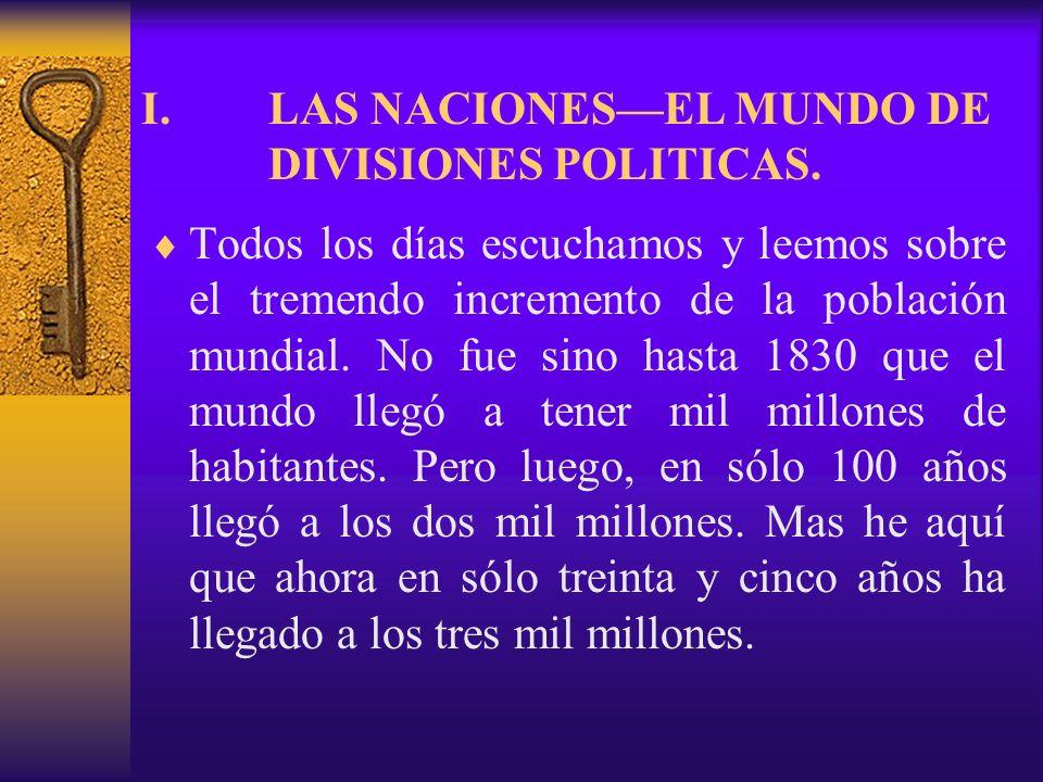 LAS NACIONES—EL MUNDO DE DIVISIONES POLITICAS.