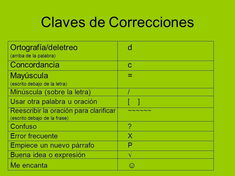 Claves de Correcciones