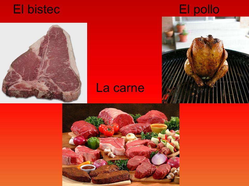 El bistec El pollo La carne