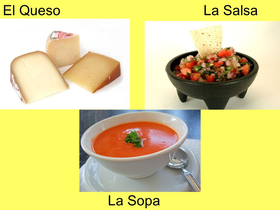 El Queso La Salsa La Sopa