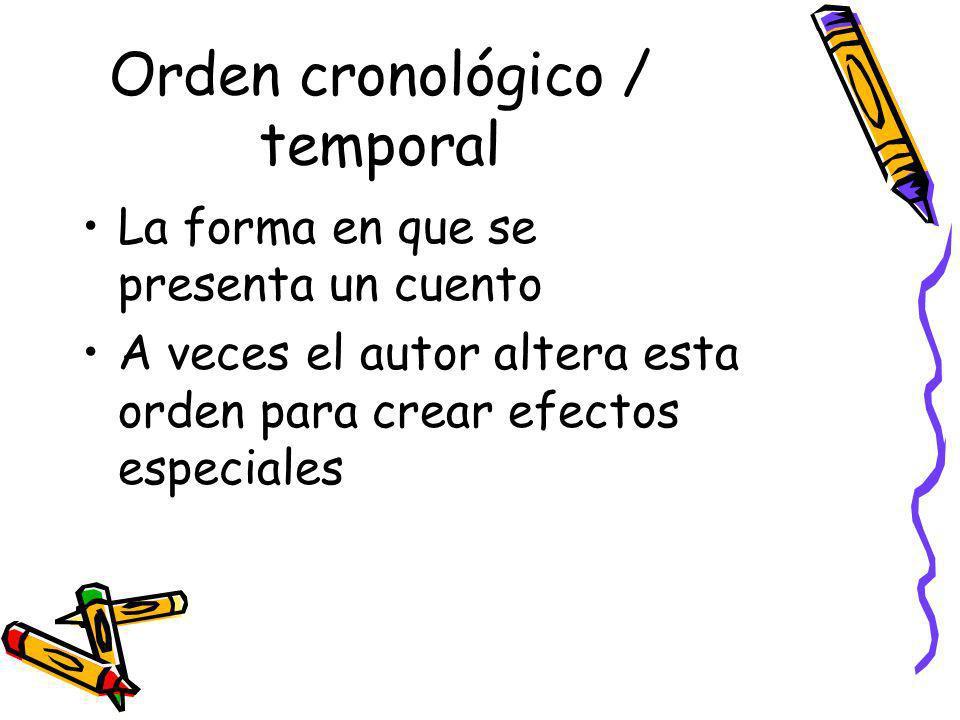 Orden cronológico / temporal