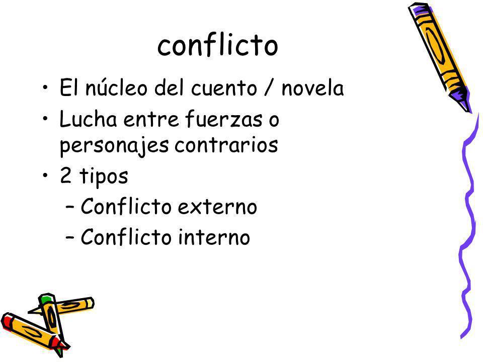 conflicto El núcleo del cuento / novela