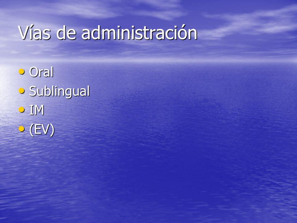 Vías de administración