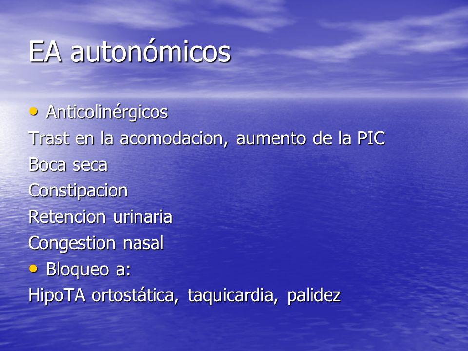 EA autonómicos Anticolinérgicos