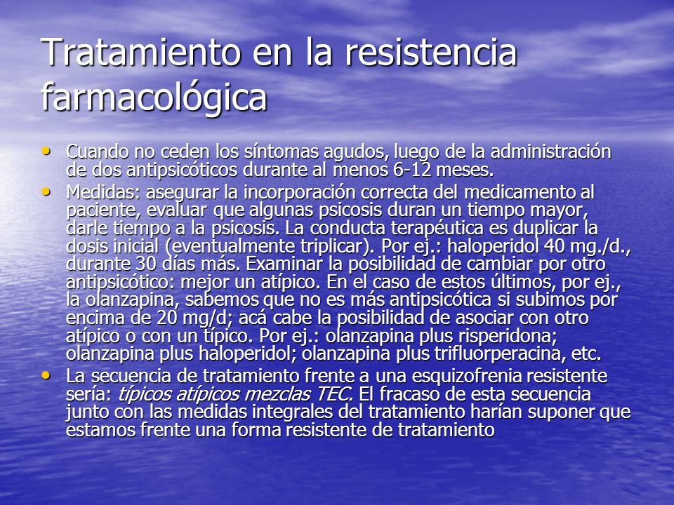 Tratamiento en la resistencia farmacológica