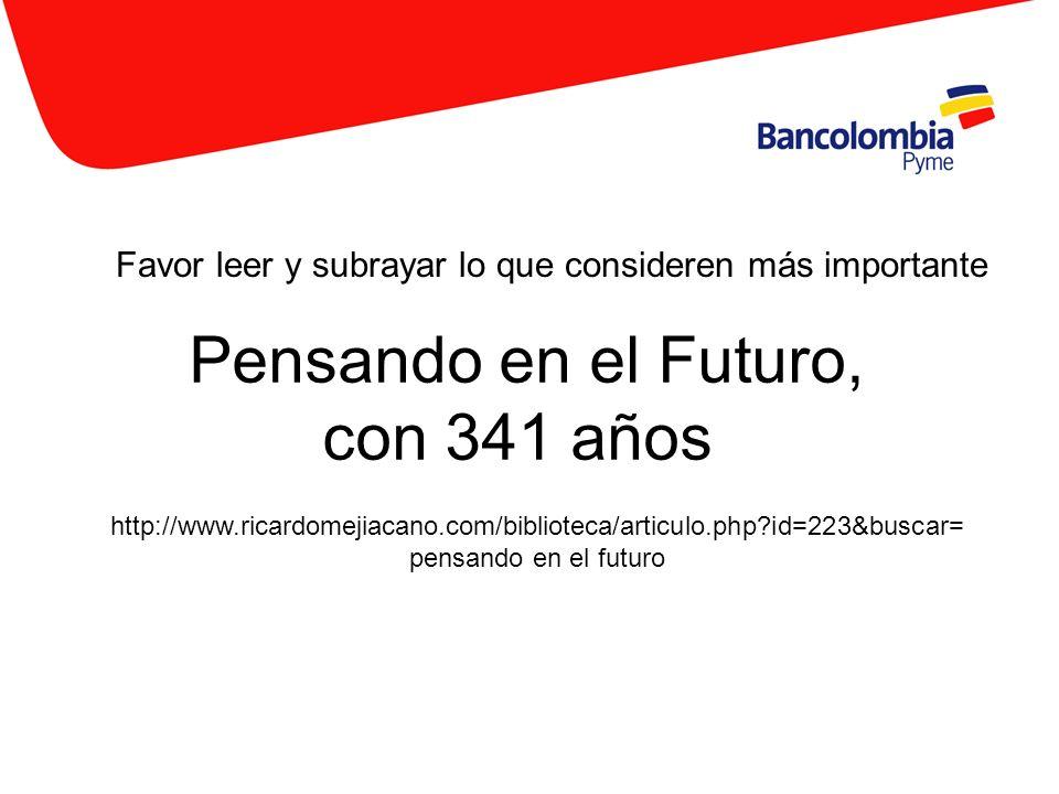 Pensando en el Futuro, con 341 años