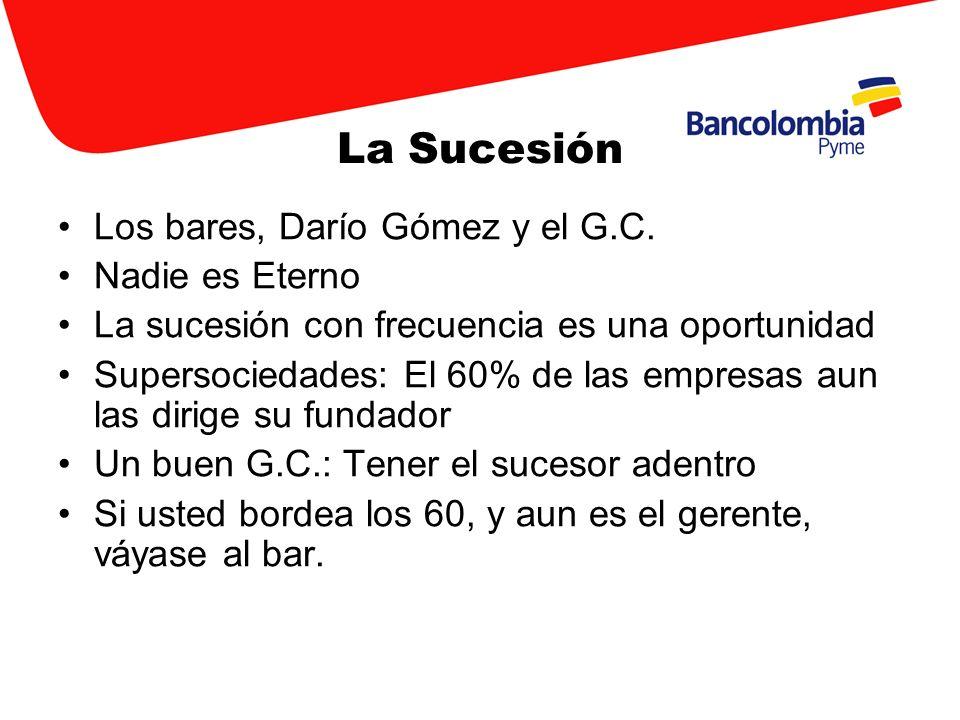 La Sucesión Los bares, Darío Gómez y el G.C. Nadie es Eterno