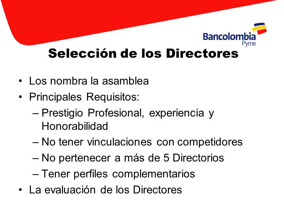 Selección de los Directores