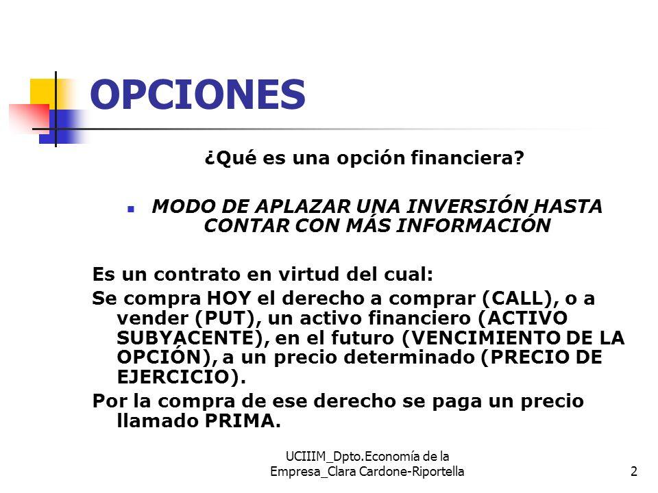 OPCIONES ¿Qué es una opción financiera