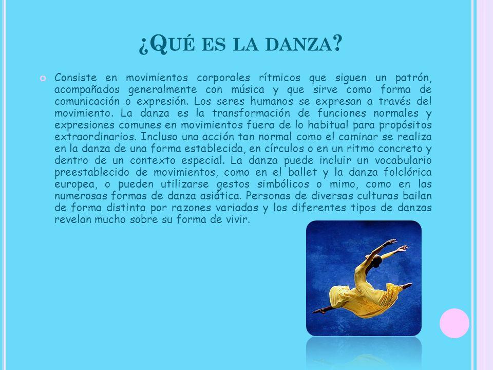¿Qué es la danza