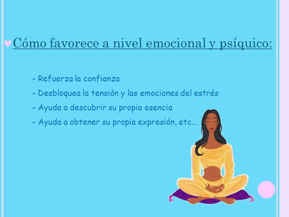Cómo favorece a nivel emocional y psíquico: