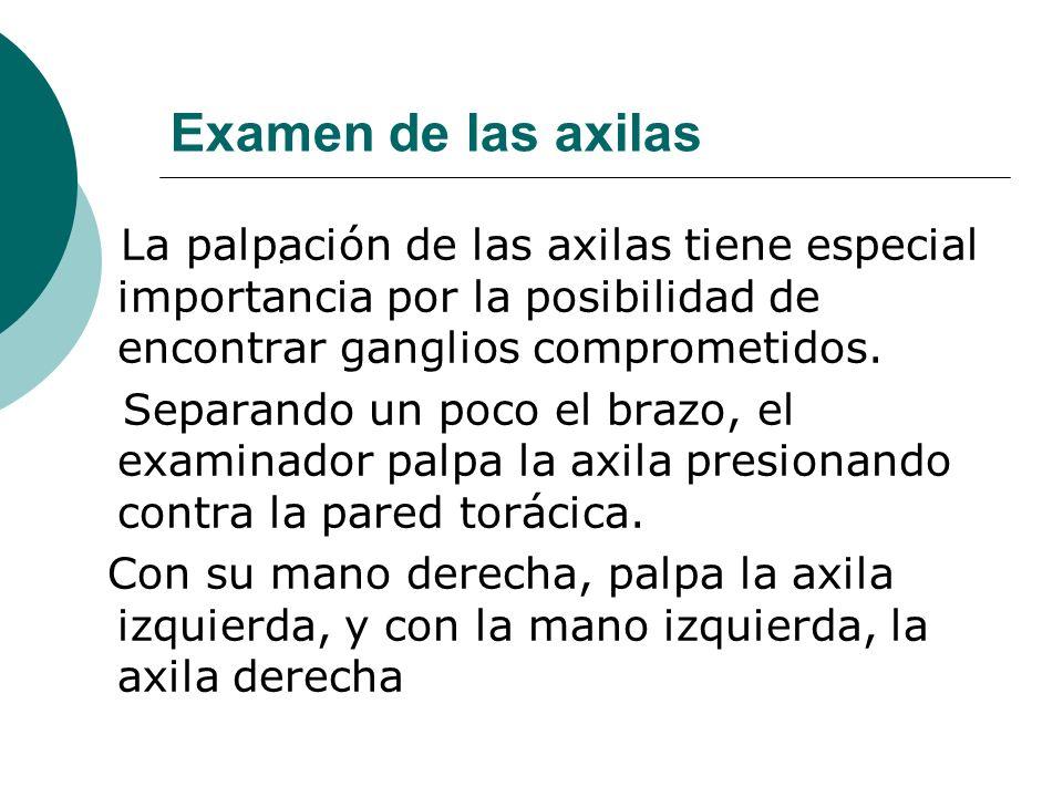 Examen de las axilas