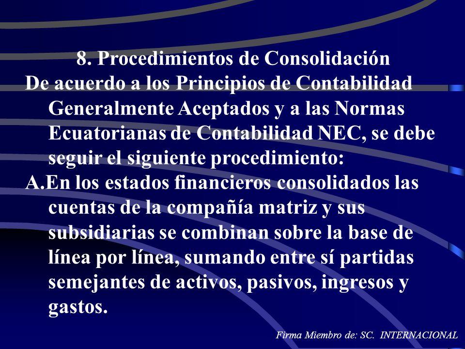 8. Procedimientos de Consolidación