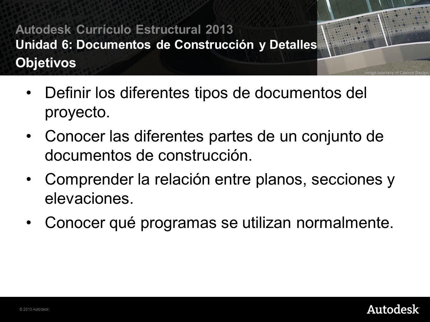 Definir los diferentes tipos de documentos del proyecto.