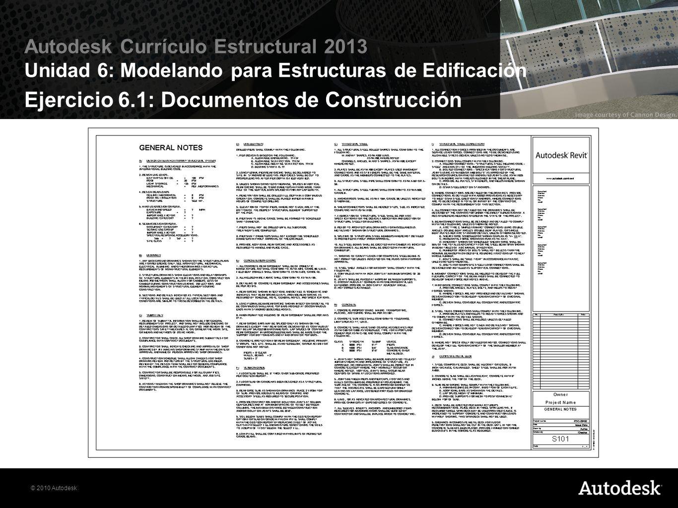 Ejercicio 6.1: Documentos de Construcción