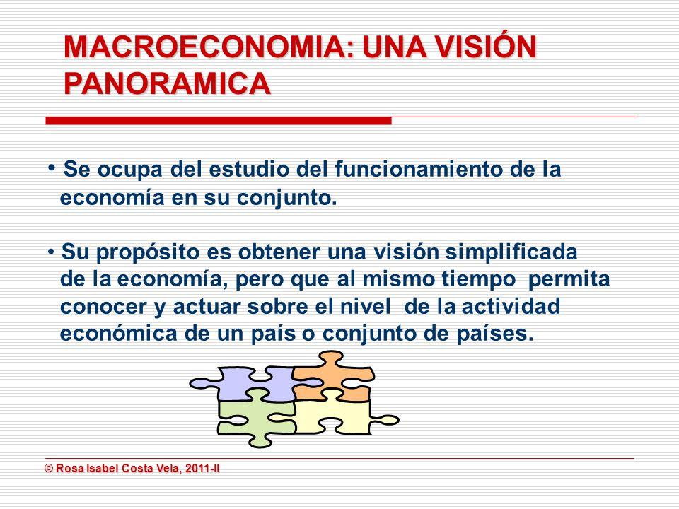 MACROECONOMIA: UNA VISIÓN PANORAMICA