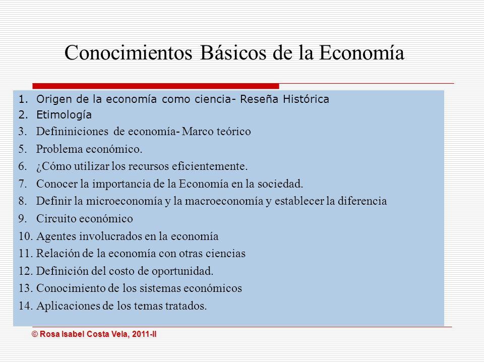 Conocimientos Básicos de la Economía