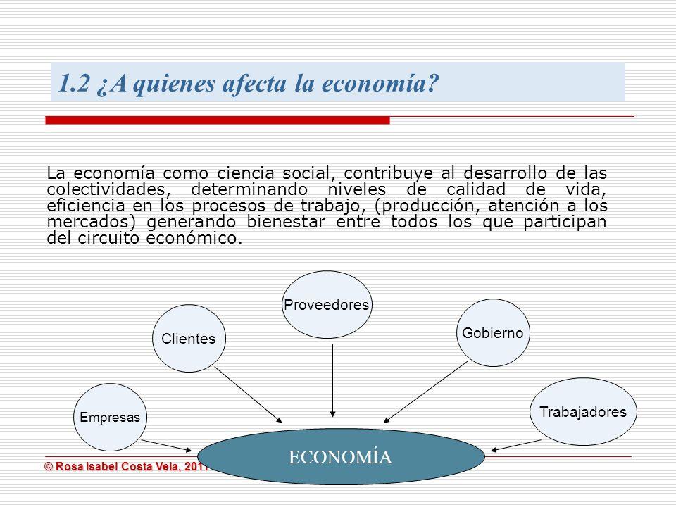 1.2 ¿A quienes afecta la economía