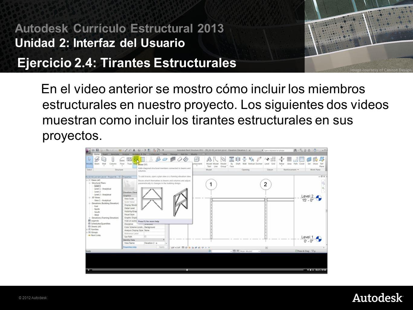 Ejercicio 2.4: Tirantes Estructurales