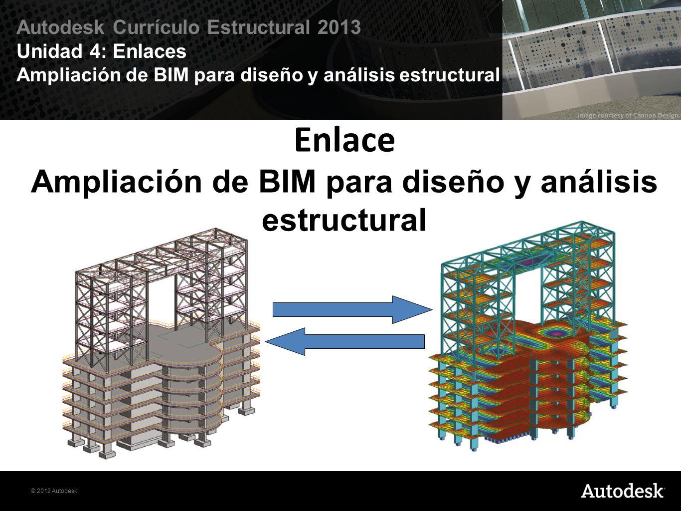 Enlace Ampliación de BIM para diseño y análisis estructural