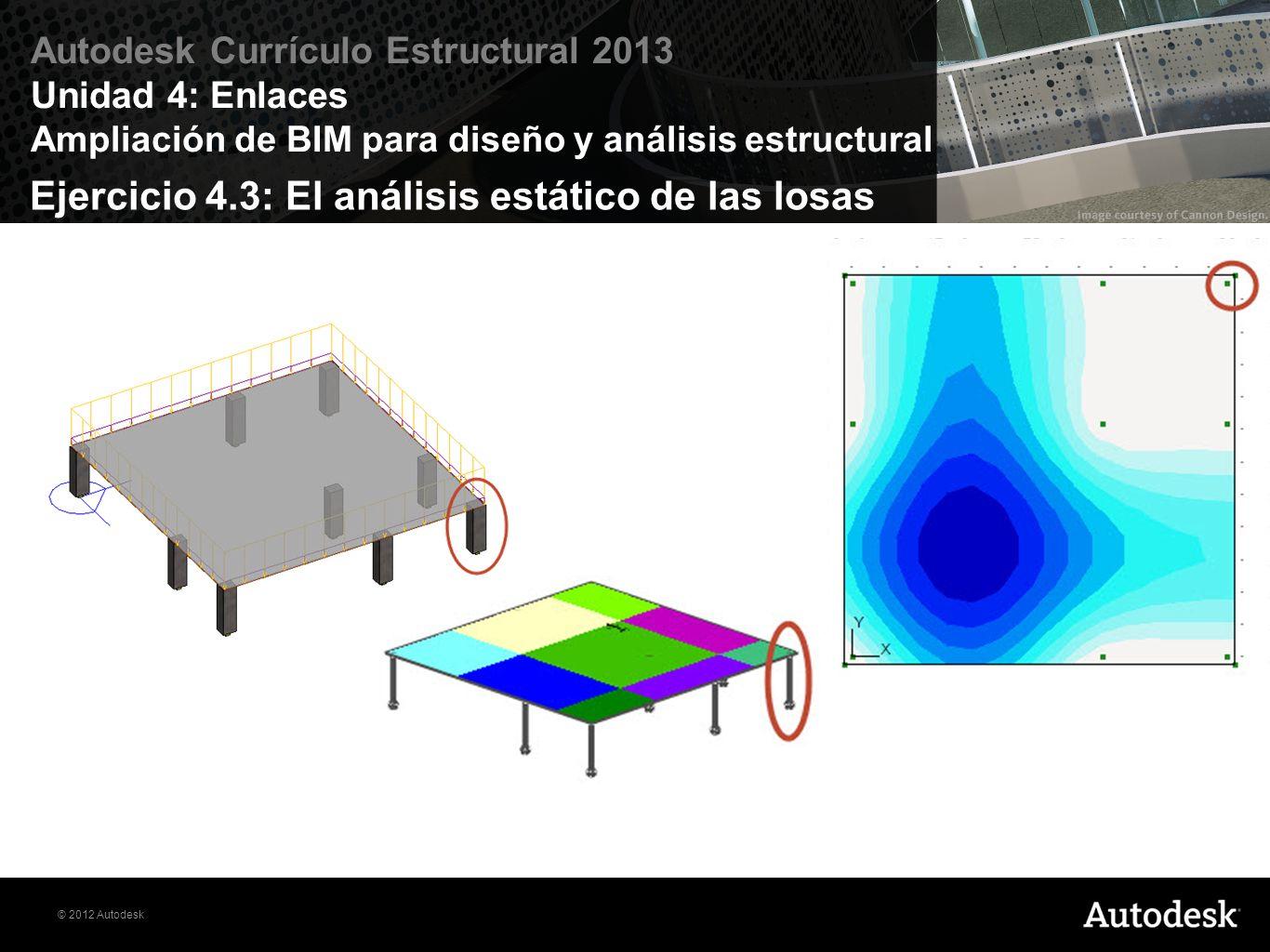 Ejercicio 4.3: El análisis estático de las losas