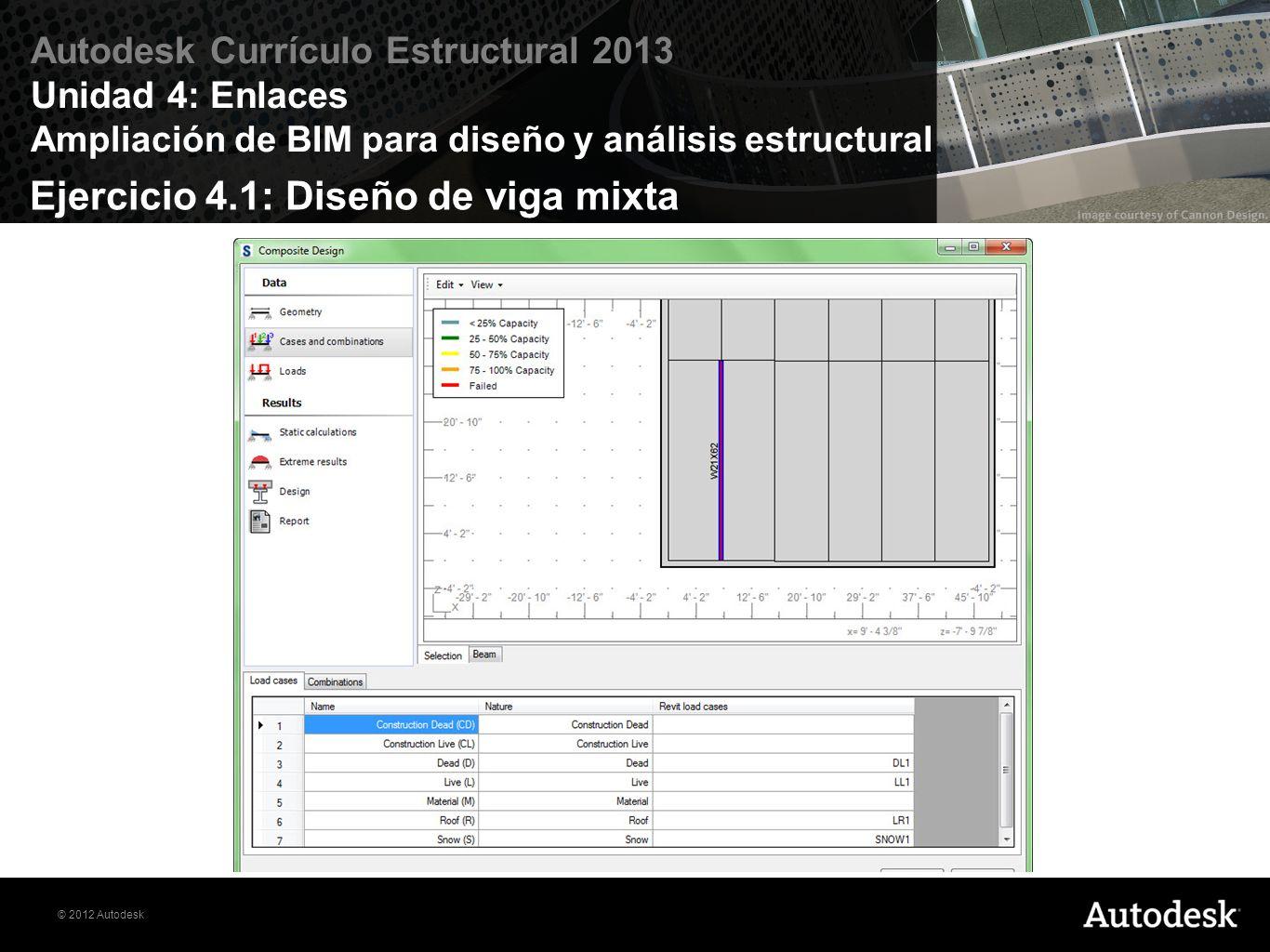 Ejercicio 4.1: Diseño de viga mixta