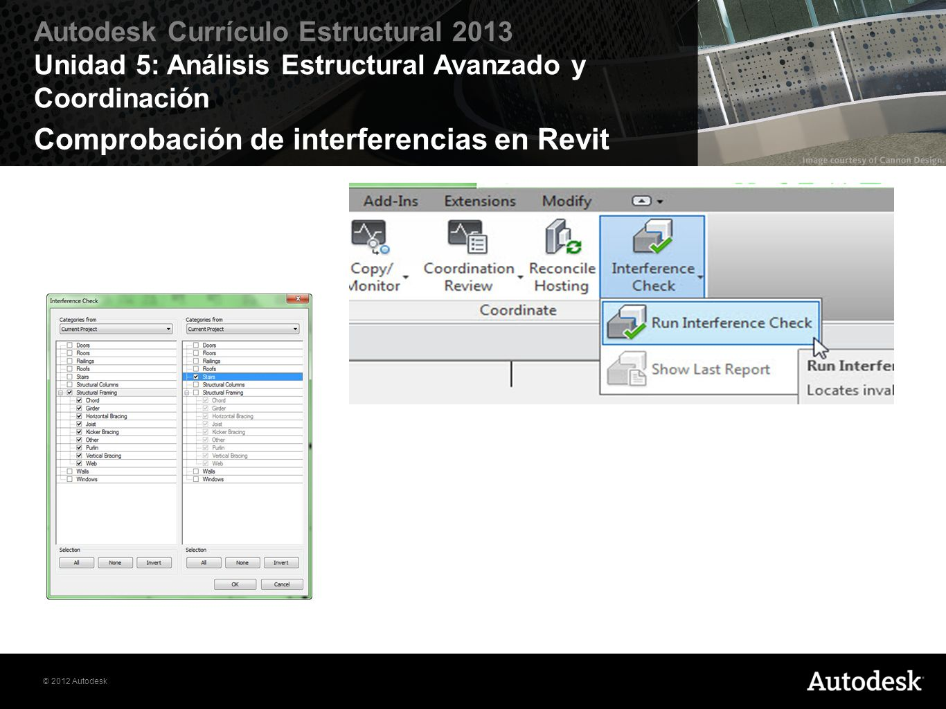 Comprobación de interferencias en Revit