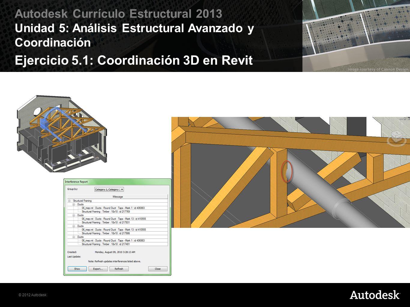 Ejercicio 5.1: Coordinación 3D en Revit