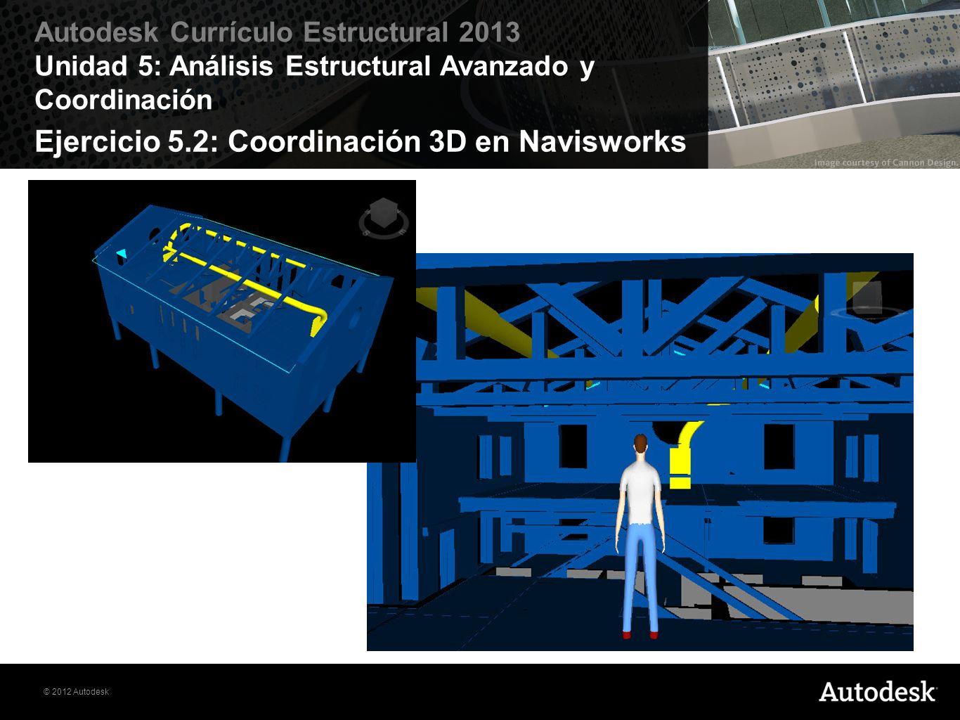 Ejercicio 5.2: Coordinación 3D en Navisworks