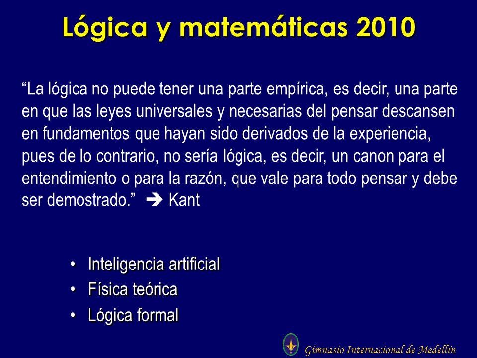 Lógica y matemáticas 2010