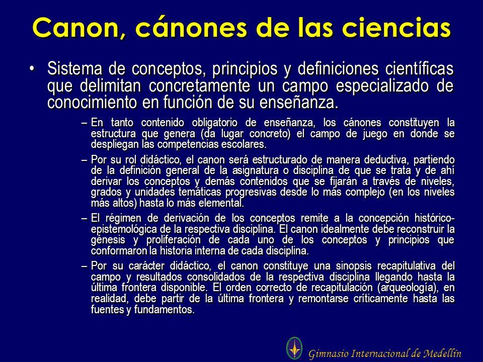 Canon, cánones de las ciencias