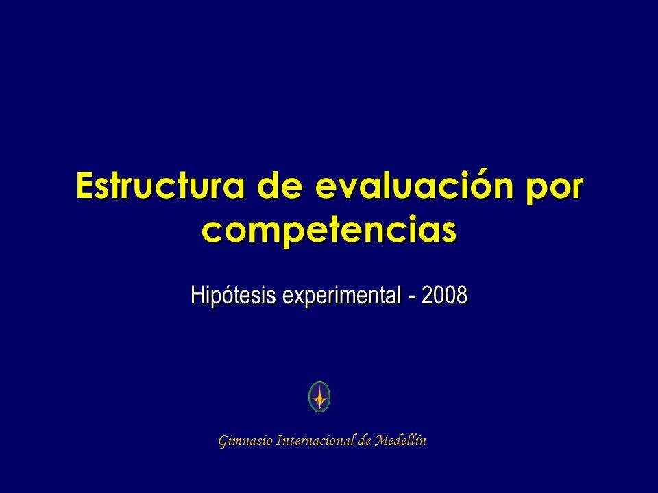 Estructura de evaluación por competencias