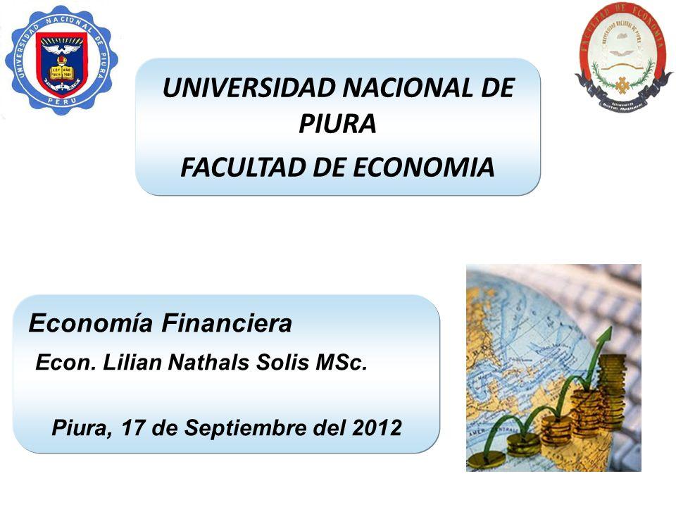 UNIVERSIDAD NACIONAL DE PIURA Piura, 17 de Septiembre del 2012