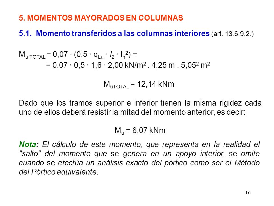 5. MOMENTOS MAYORADOS EN COLUMNAS