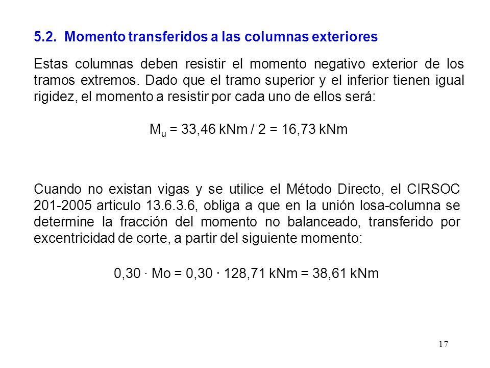 5.2. Momento transferidos a las columnas exteriores