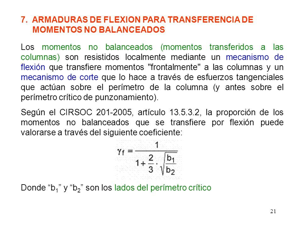 7. ARMADURAS DE FLEXION PARA TRANSFERENCIA DE