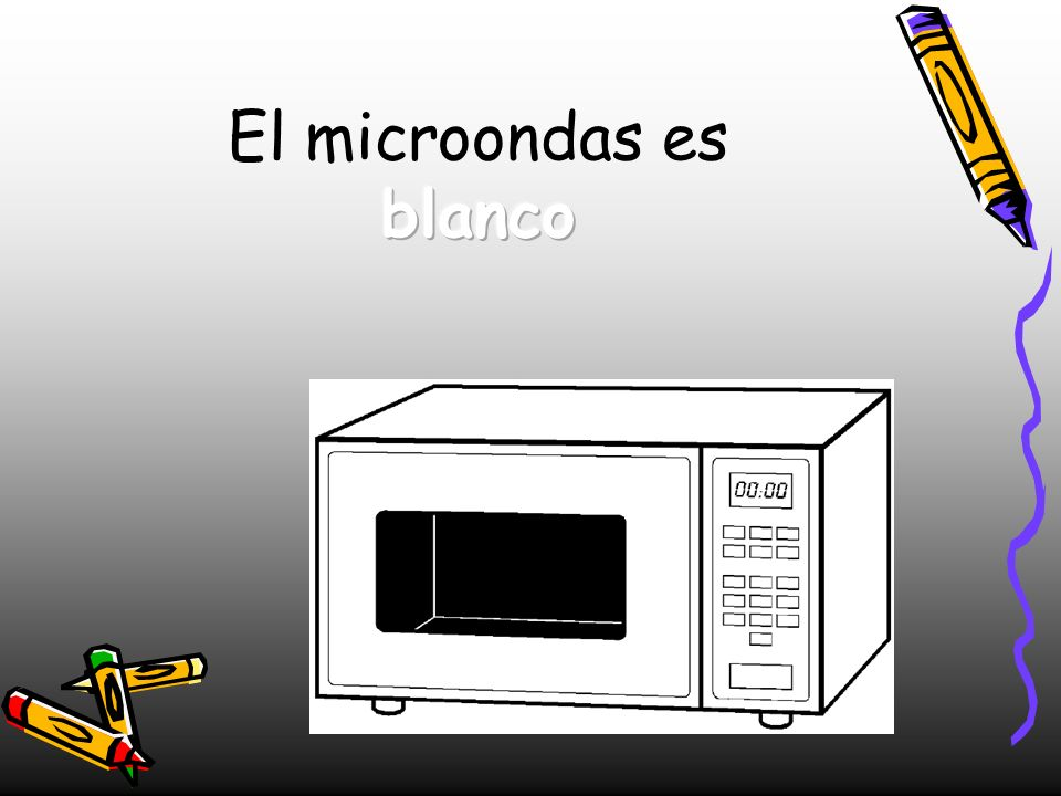 El microondas es blanco