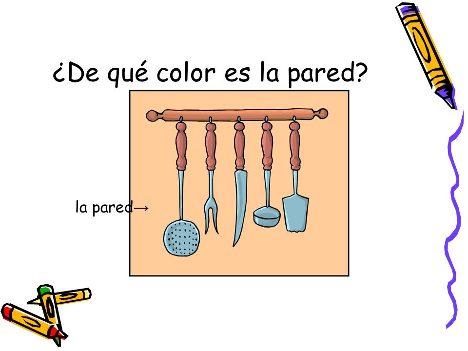 ¿De qué color es la pared