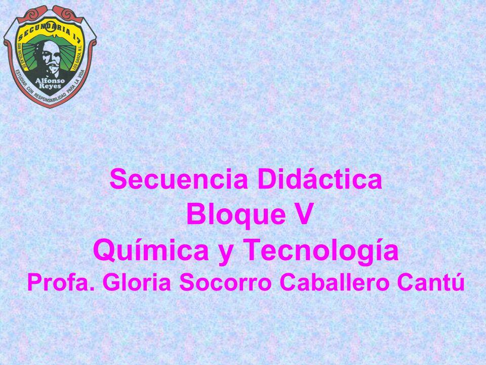 Secuencia Didáctica Bloque V Química y Tecnología Profa