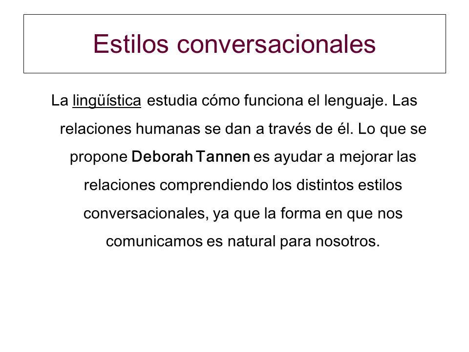 Estilos conversacionales