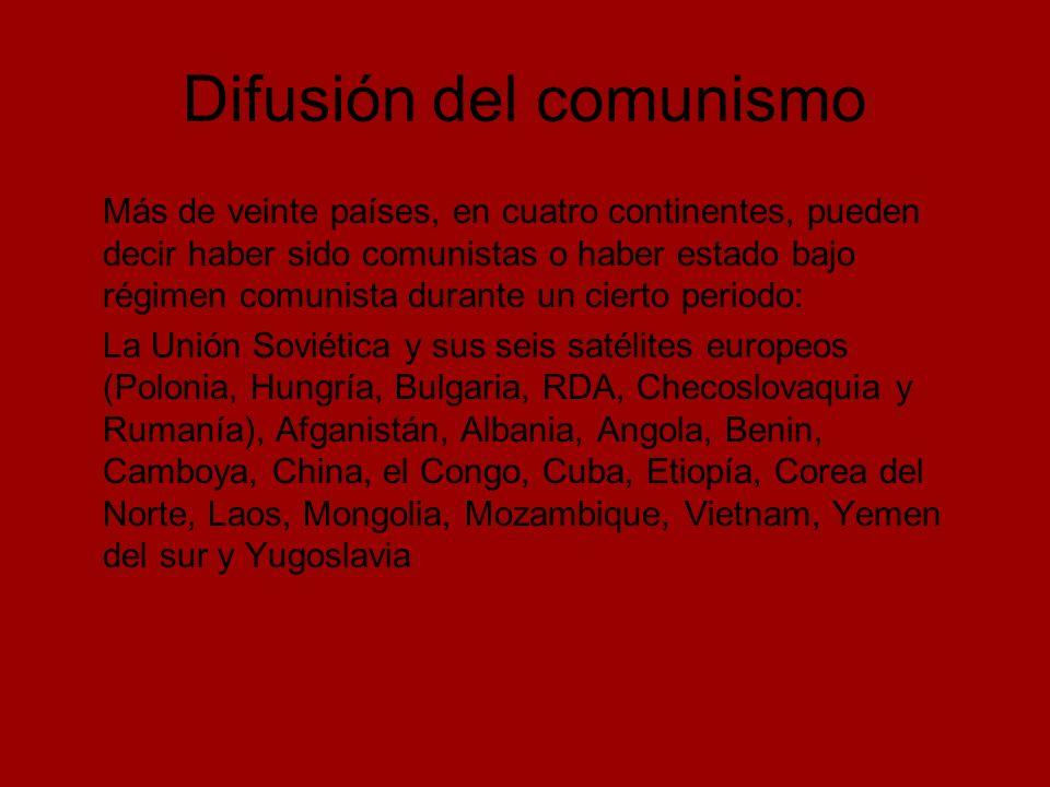 Difusión del comunismo