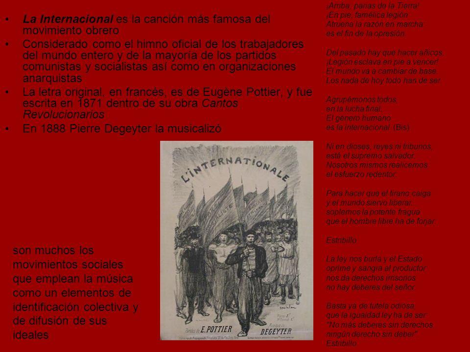 La Internacional es la canción más famosa del movimiento obrero