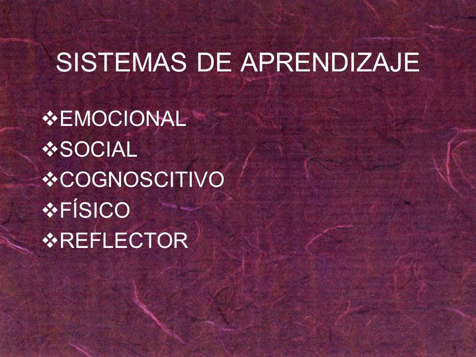 SISTEMAS DE APRENDIZAJE