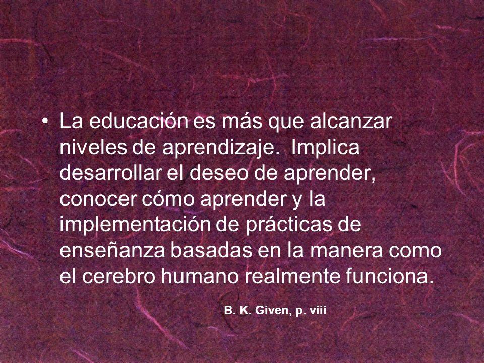 La educación es más que alcanzar niveles de aprendizaje