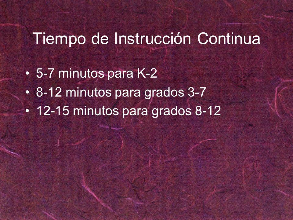 Tiempo de Instrucción Continua