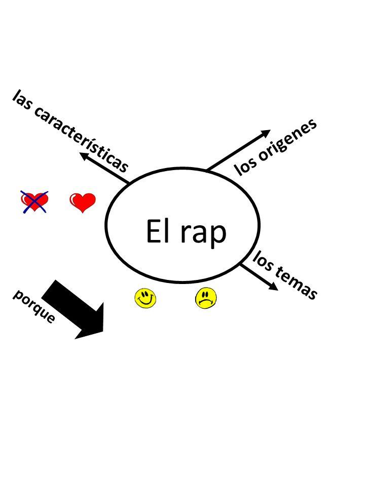 las características los origenes El rap los temas porque