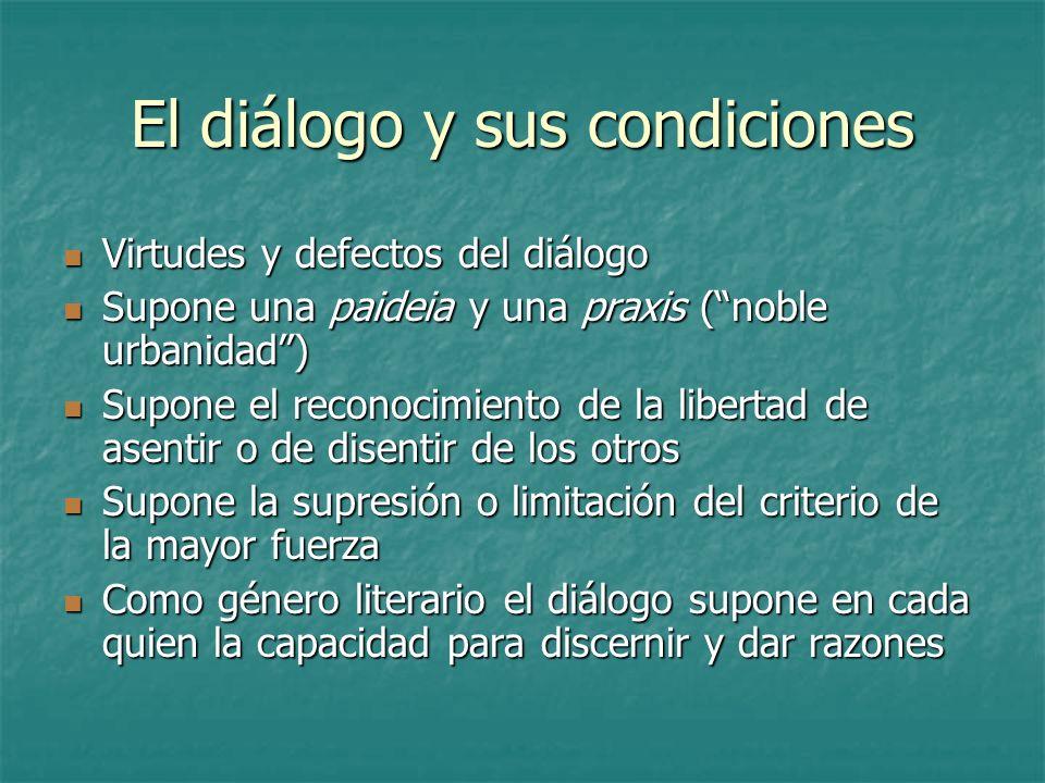 El diálogo y sus condiciones