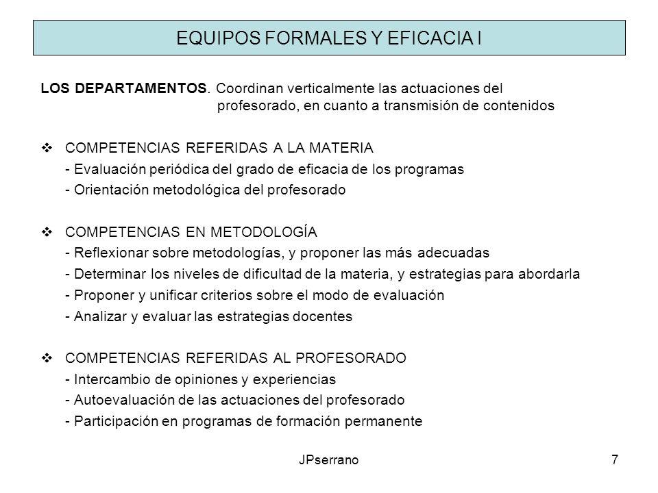 EQUIPOS FORMALES Y EFICACIA I