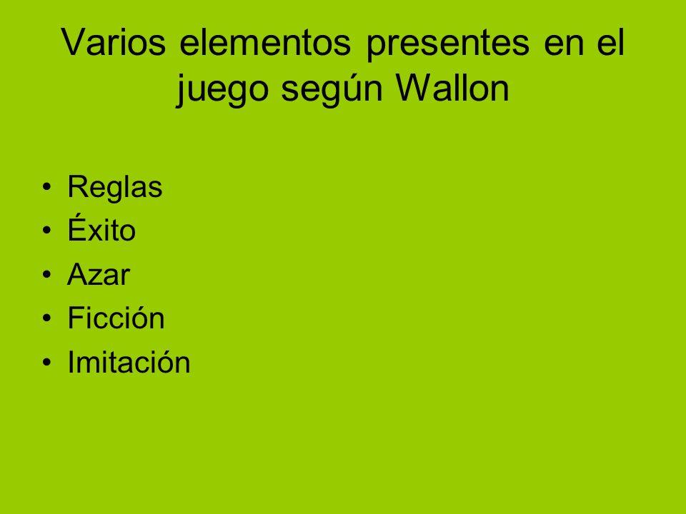 Varios elementos presentes en el juego según Wallon